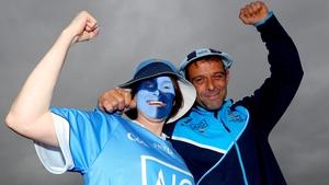 Dublin supporters Karen Abelli and Mark Dempsey