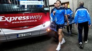 Paul Flynn and the Dublin squad arrive at Croke Park