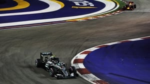 Nico Rosberg stormed to victory in Singapore