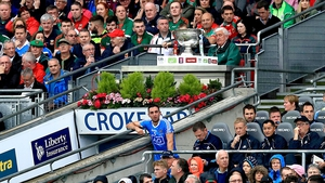 James McCarthy looks on after being dismissed for a cynical foul in the All-Ireland final
