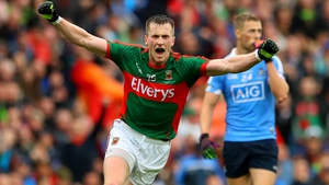 Cillian O'Connor celebrates that crucial final score of the game