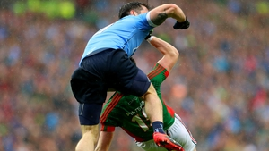 Michael Darragh Macauley might have been fortunate to only see a yellow for his foul on Cillian O'Connor