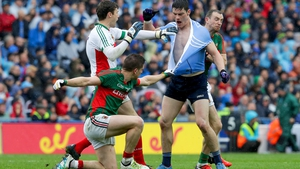 Lee Keegan didn't wait to wait until the final whistle to get Diarmuid Connolly's jersey