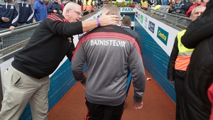 Mayo manager Stephen Rochford makes his way down the tunnel after full-time. He'll already be thinking about the 1 October replay