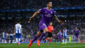 James Rodriguez opened the scoring for Real Madrid