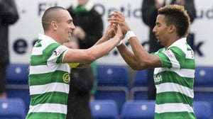 Scott Sinclair (R) was on the mark for Celtic