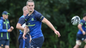 Johnny Sexton pictured at Leinster training on Monday