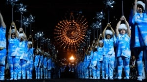 Dancers perform during the closing ceremony