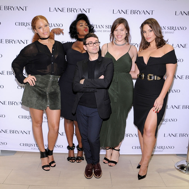 Sabina Karlsson, Precious Lee, Christian Siriano, Georgia Pratt and Ashley Graham attend Christian Siriano