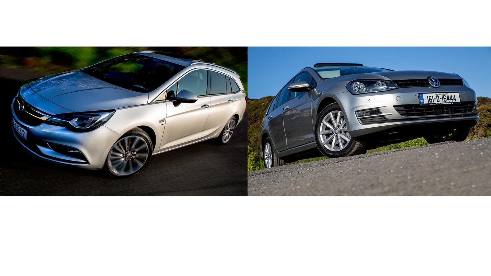 Opel Astra Estate Vs  Volkswagen Golf Estate