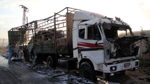 18 people were killed following the attack on the aid convoy