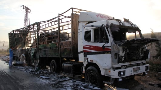 UN aid convoys halted in Syria after deadly attack