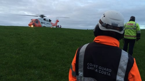 Coast guard helicopter took the children to Cork University Hospital