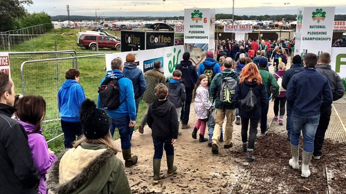 111,000 people attended the ploughing championships yesterday