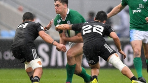 Ireland beat New Zealand in the pool stages last year
