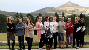 The Painting The Nation finalists, pictured with host Pauline McLynn, are taking their work on tour.