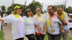 The slimmed-down leaders took part in a colour run at the Craughwell Athletics Club sports day in Galway for the final show