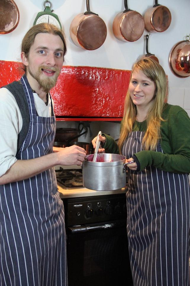 Students at Alix Gardener's Cooking School