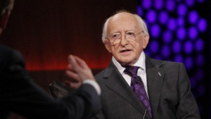 President Michael D. Higgins is one of the guests on this week's Late Late Show