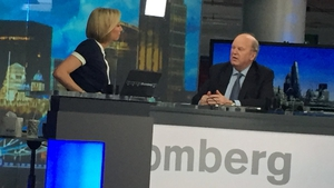 Finance Minister Michael Noonan speaking on Bloomberg TV in London today