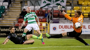Gary McCabe scores his second for Shamrock Rovers