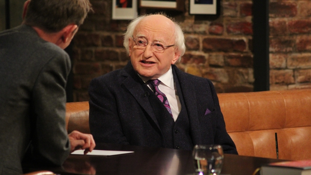 President Michael D. Higgins joined Ryan Tubridy on The Late Late Show