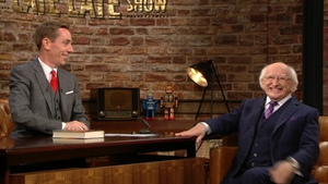 President Michael D Higgins (right) speaking to Ryan Tubridy on last night's Late Late Show