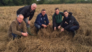 Joe Healy and other IFA officers visiting a farm in Corandulla, Co Galway
