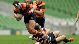 Tom Daly in action for Lansdowne against Terenure