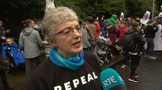 Children's Minister Katherine Zappone attended the rally