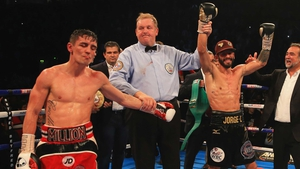 Anthony Crolla's hands are raised in victory