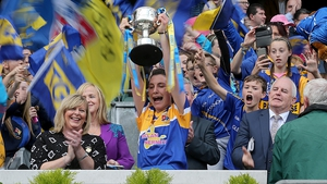 A joyous Mairéad Renyolds lifts the West County Hotel Cup