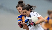 Clare's Laurie Ryan with Noelle Early of Kildare