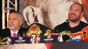 Trainer Peter Fury and Tyson