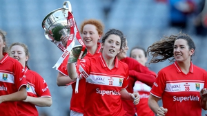 O'Sullivan leads her team around the field on a lap of honour