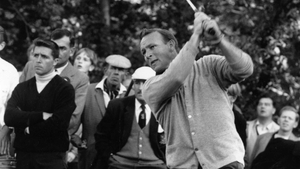 Arnold Palmer in action in 1964 - the last year he won the Masters