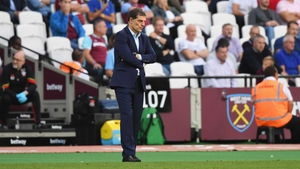 A dejected Slaven Bilic during Sunday's defeat