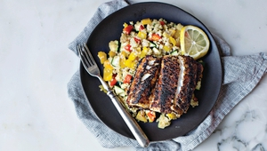 """Aoife Hearne shares her recipe for Mexican Cod from her healthy eating cookbook The Plan. Aoife says """"Quinoa is a nice change from othercarbohydrates, but be aware that itdoes take a little time to prepare."""""""