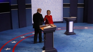The two candidates faced off in New York