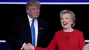 Mrs Clinton has mostly led Mr Trump in the polls this year