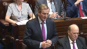 Enda Kenny took questions as the new Dáil term began