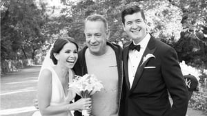 Tom Hanks drops in on the newlyweds photoshoot in New York (Pic: Meg Miller)