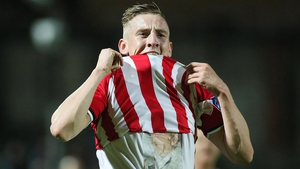 Ronan Curtis scored on the double for the Candystripes