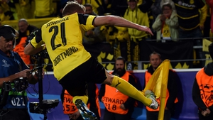 Andre Schurrle celebrates equalising for Dortmund