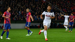 Son Heung-min celebrates his winner