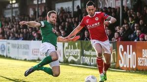 Alan Bennett (L) wants a more ruthless streak from Cork City