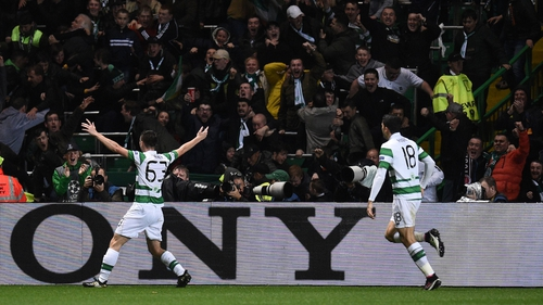 Kieran Tierney grabbed the second for Celtic
