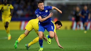 Jamie helped Vardy fired Leicester to the Premier League title last season