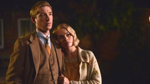 Gleeson and Robbie as AA Milne and wife Daphne Production photos: David Appleby, Fox Searchlight Pictures