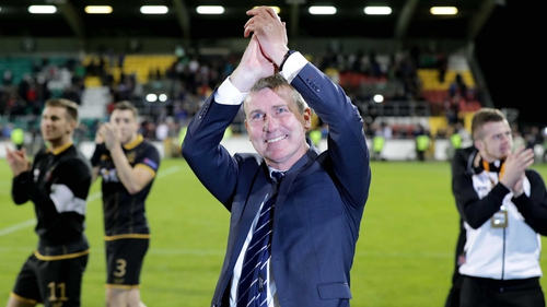 Stephen Kenny: 'We're not booking our hotels for Glasgow just yet.'